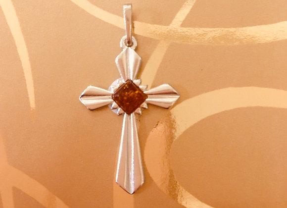 Cross with Amber