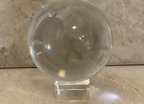 Glass sphere 7.5cm diameter