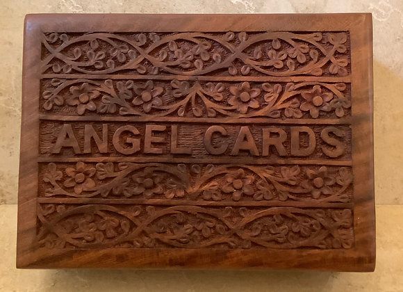 Angel Cards Wooden Box
