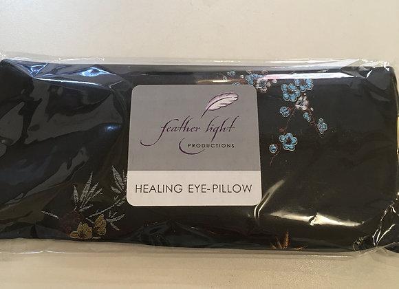 Silk Healing Eye Pillow Black Floral