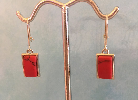 Red Howlite Earrings