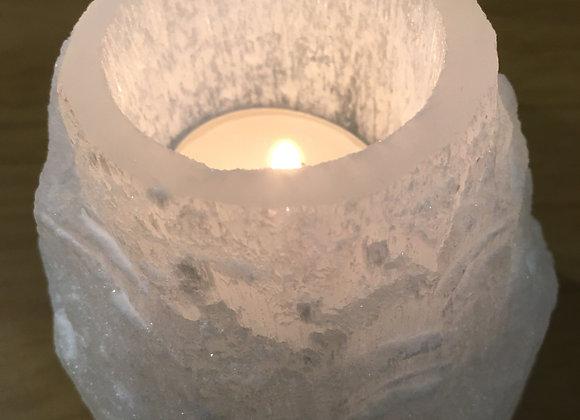 Selenite Tower T-light Holder