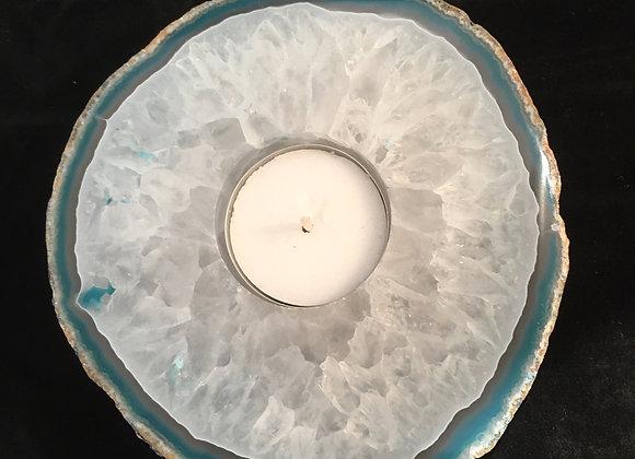 Blue Agate Tea Light Holder