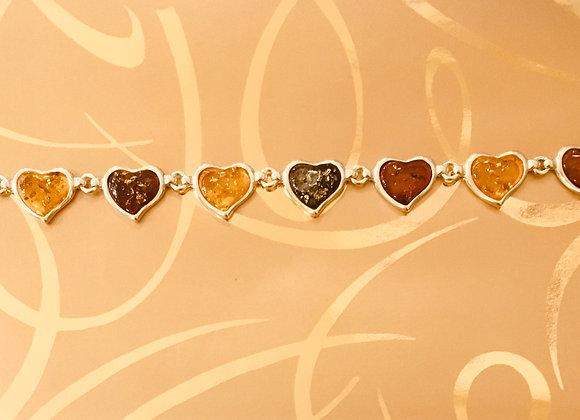Heart Amber Bracelet