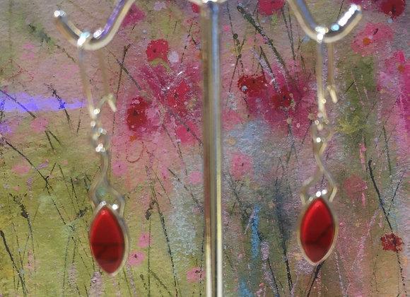 Red Howlite Earrings