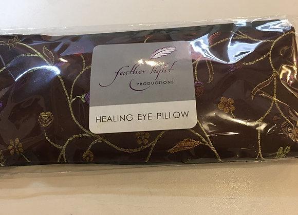 Silk Healing Eye Pillow Burgundy Floral