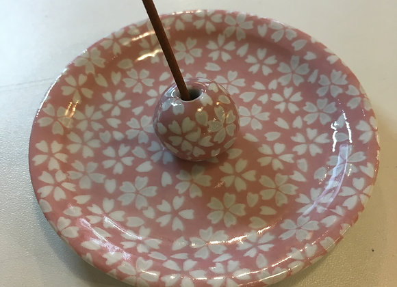 Incense Holder Pink Flower