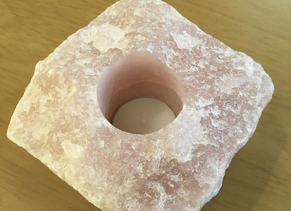 Rose Quartz Tee-light Holder