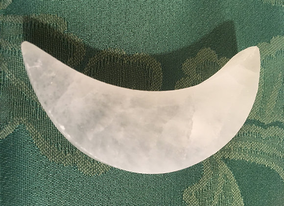 Selenite Half Moon