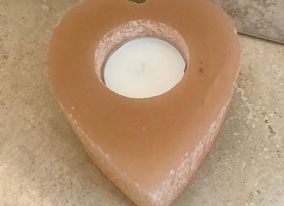 Tangerine Selenite Tee-Light holder