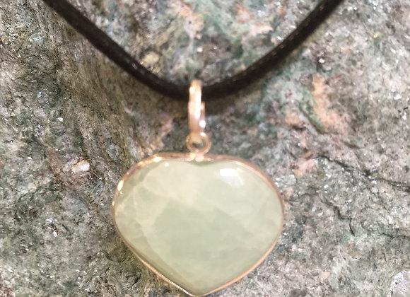 Amazonite Heart Pendant