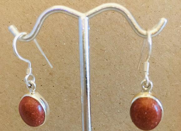 Goldstone Earrings
