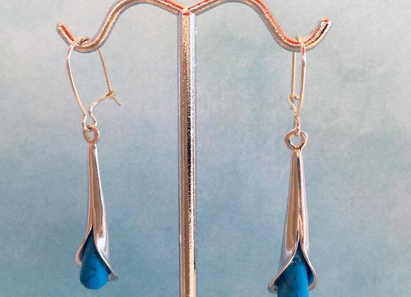 Tulip Design Turquinite Earrings