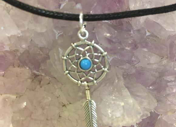 Dreamcatcher Pendant with Turquoise