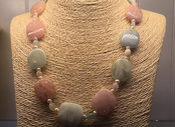 Morganite & Freshwater Pearl Necklace