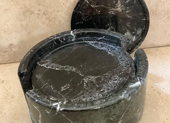 Black Agate Coaster Set