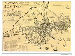 Historic map of Boston