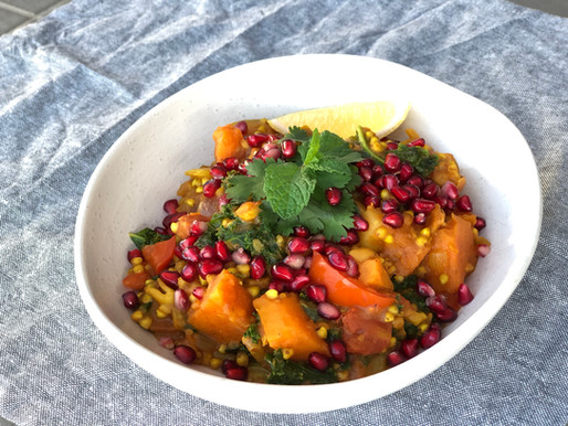Sweet Potato, Chickpea and Pear Stew