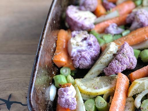 Spiced Fennel & Cauliflower Salad w Lemon Tahini Dressing