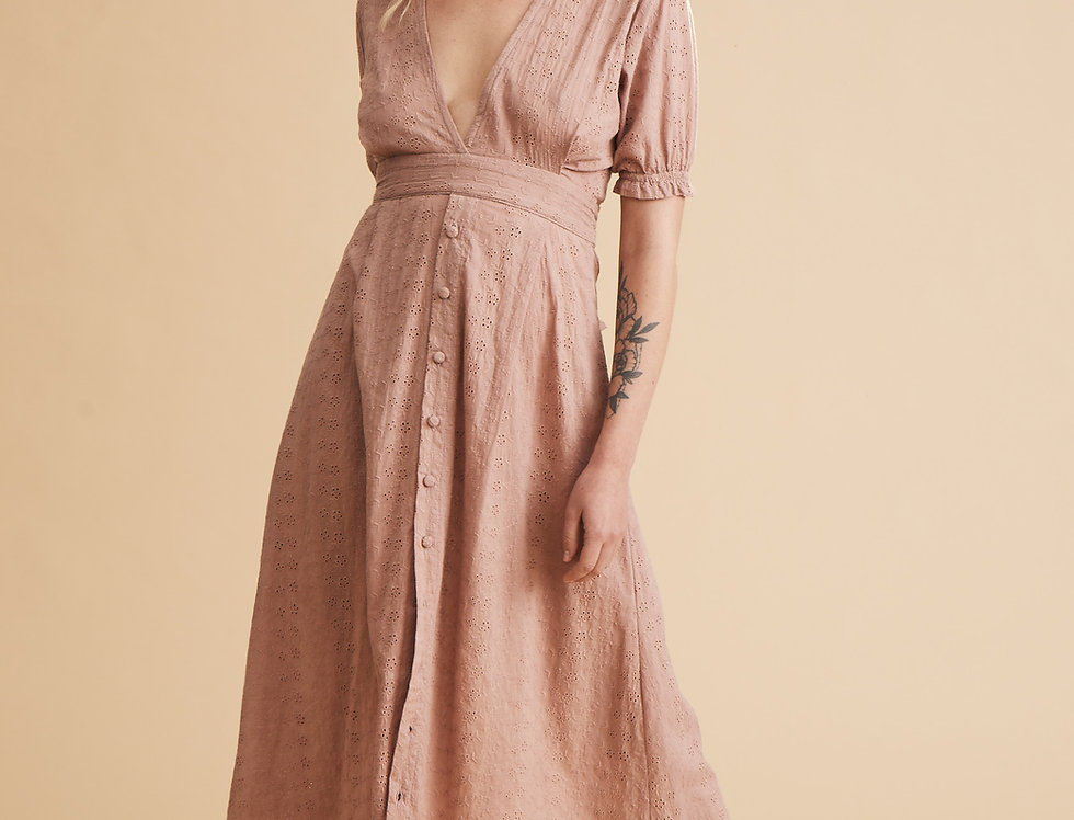 Winslet Maxi - Dusty Rose Embroidery
