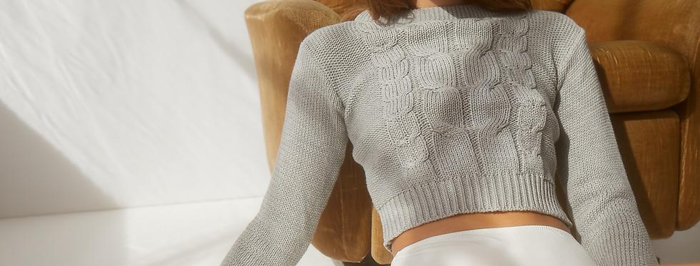 Arlo Cropped Knit - Sky
