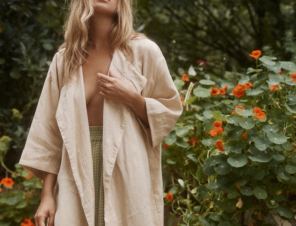 Arden Short Kimono Jacket - Sandstone