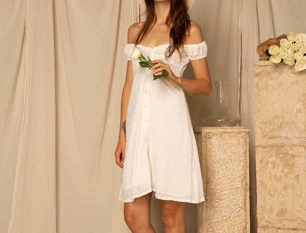 Isobel Mini - White Embroidery