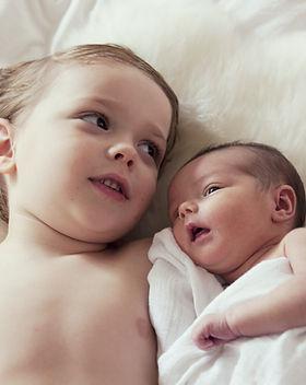 Frères et sœurs bébé