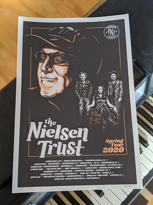 TNT Hand Screened Poster