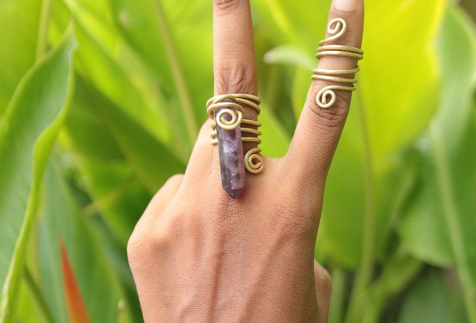 AMETHYST RING SET