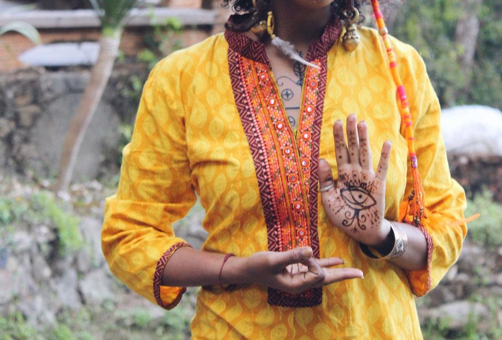 YELLOW SHIVA | KURTA