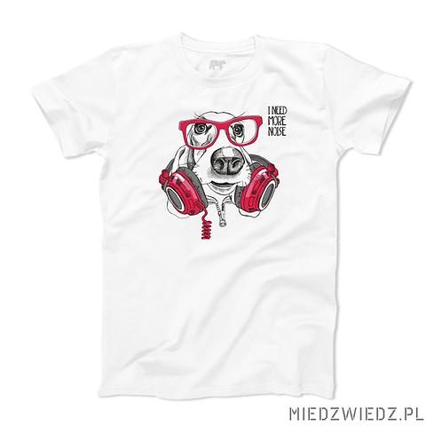 koszulka - PIES W SŁUCHAWKACH