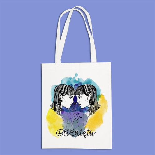 torba ekologiczna - BLIŹNIĘTA - seria akwarela