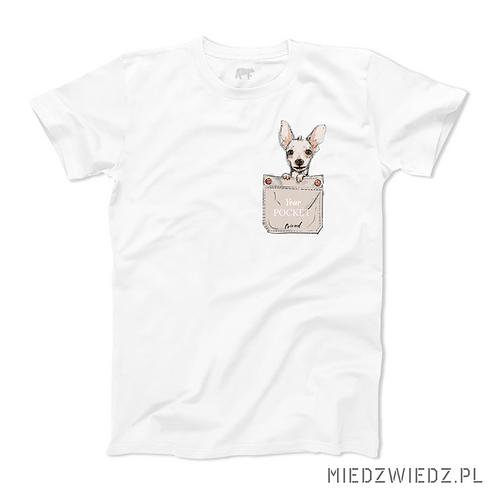 koszulka - PIES W KIESZONCE