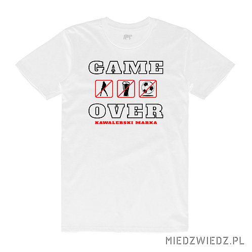 koszulka - GAME OVER - KAWALERSKI