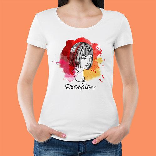 koszulka - SKORPION - seria akwarela