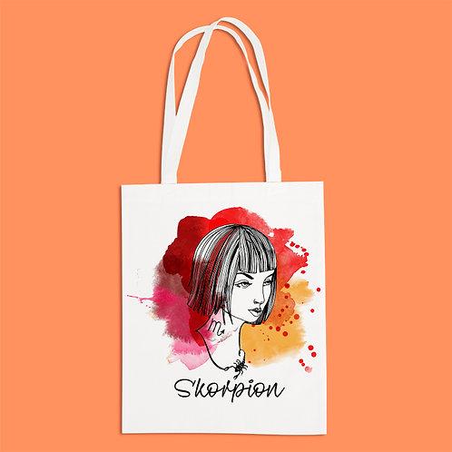 torba ekologiczna - SKORPION - seria akwarela