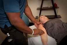 Woman getting Orthopedic Massage