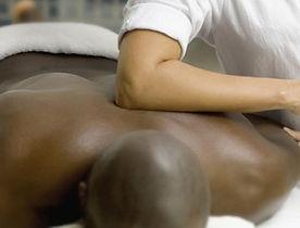 Man receiving deep tissue massage