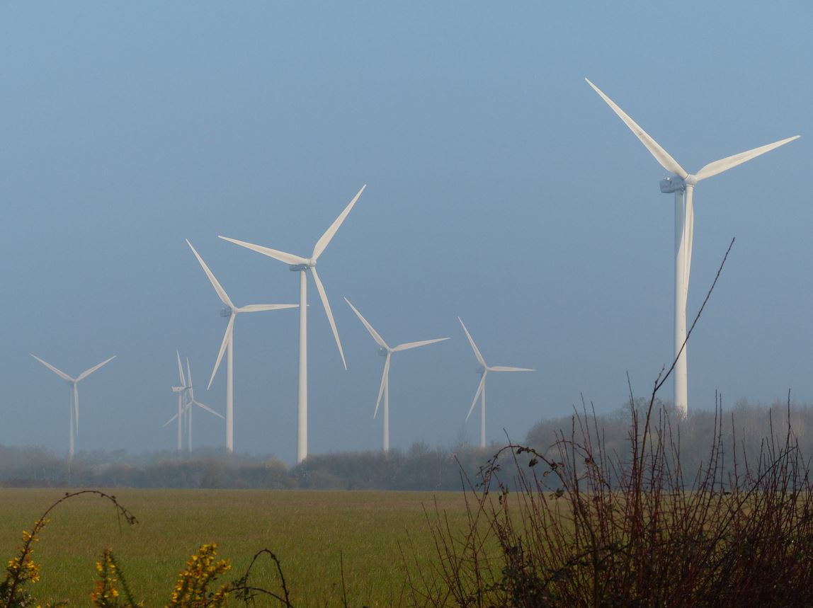 Les éoliennes à Froidfond