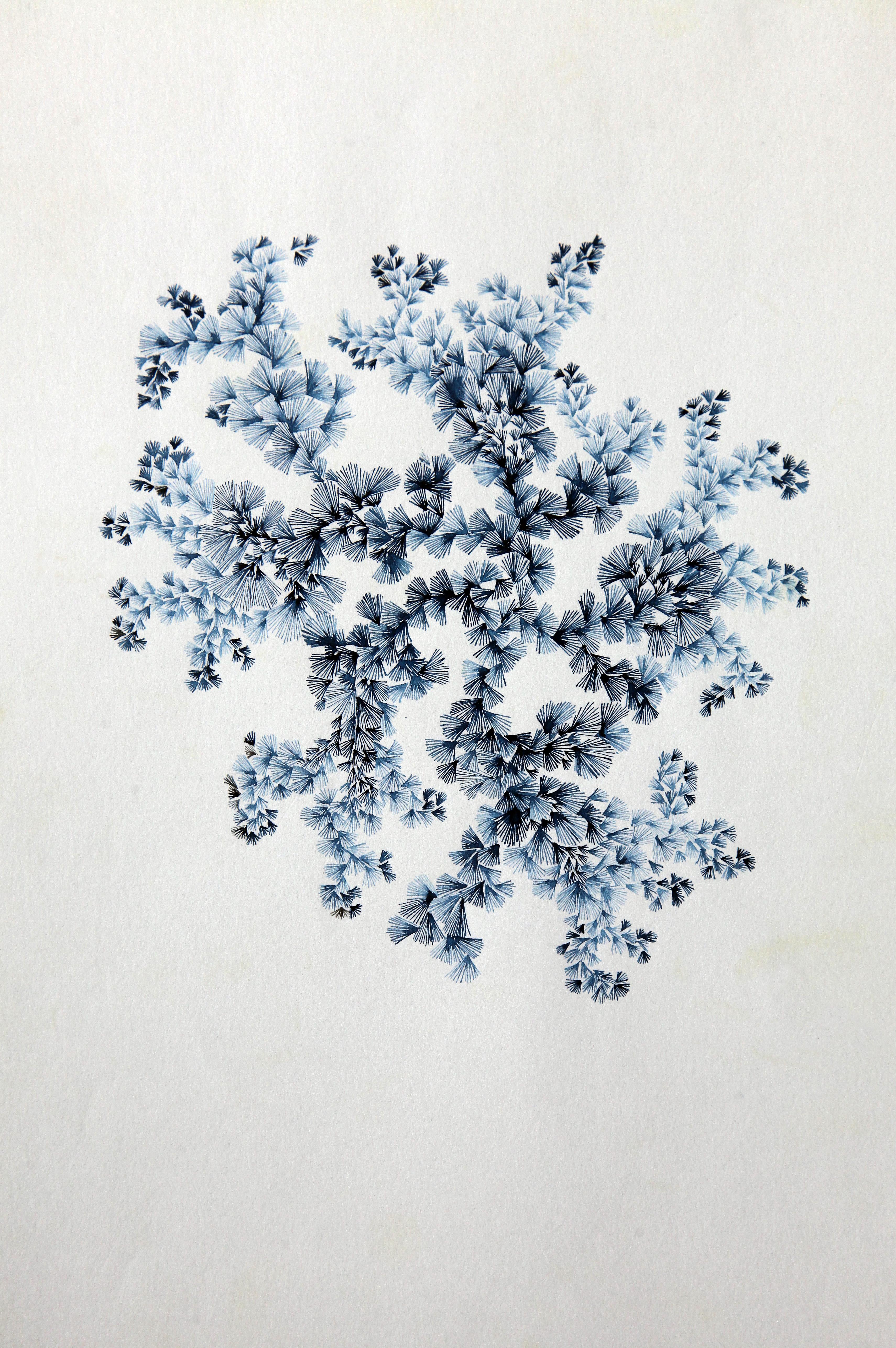 A4 encre bleue papier blanc