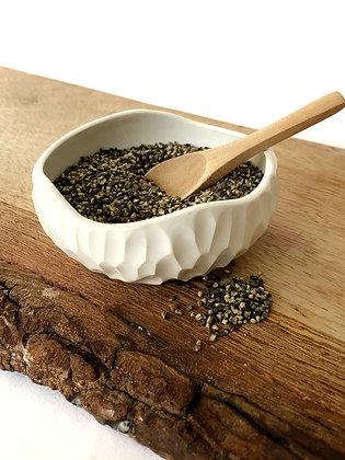 Salt Keeper w/ Wood Spoon #14