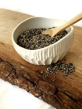 Salt Keeper w/ Wood Spoon #20