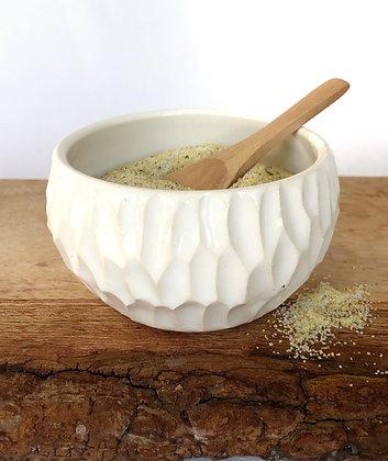 Salt Keeper w/ Wood Spoon #21