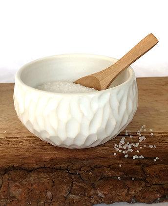 Salt Keeper w/ Wood Spoon #22