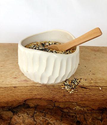 Salt Keeper w/ Wood Spoon #17