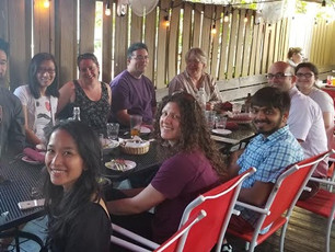Rudd and Grimson labs get together to celebrate their first joint NIH grant! Yay U01!
