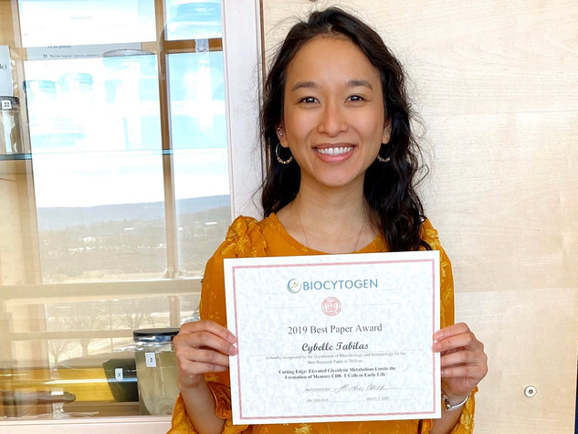 Cybelle won Best Paper of 2019 in the department!