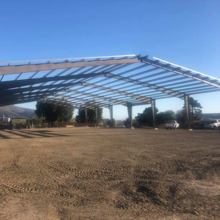 New hay barn and livestock cover makes its way into fruition