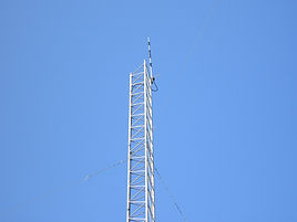 Tower that holds the CCARC repeater antenna. W5DWT 146.64 encode decode PL 103.5